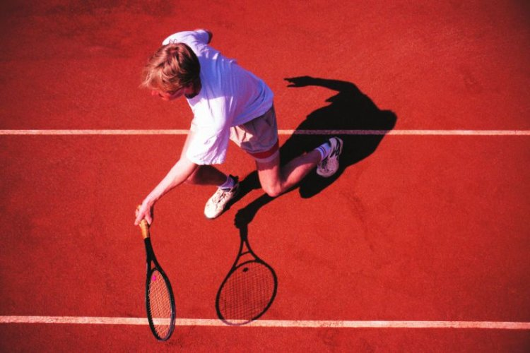 TENNIS - GRIP, FOOTWORK, AND STROKES